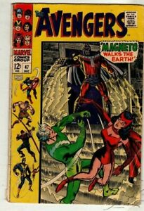 Classic Silver Age Marvel comic.  AVENGERS # 47.  Dec. 1967 issue.VG