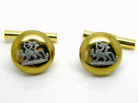 THE ROYAL BERKSHIRE REGIMENT ARMY MILITARY BUTTTON BADGE CUFFLINKS IN GIFT POUCH