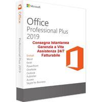 Office 2019 Professional Plus 32/64 Bit VERSIONE COMPLETA Licenza Fatturabile