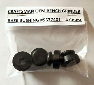 4 NEW Craftsman Bench Grinder Black Rubber Feet 5537401 Fits Most Block Grinders