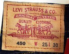 LEVI STRAUSS Original 450 Red Tab LEVI'S Low X Flare JEANS Women W25 L30 Size 7