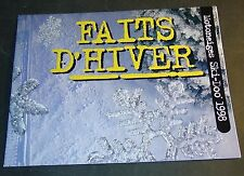 "1998 SKI-DOO SNOWMOBILE SALES BROCHURE FRENCH VERSION POSTER SIZE 22"" X 34"""