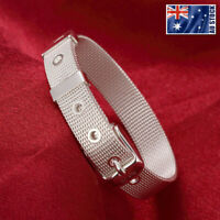 925 Sterling Silver Filled 10MM Watch Strap Band Style Charm Bracelet Chain