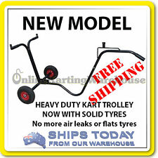 GO KART TROLLEY HEAVY DUTY - NEW MODEL SOLID TYRES - NO AIR - NO HASSLE - TL006