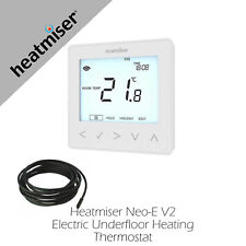Underfloor Heating Heatmiser Neo-E white Thermostat 4 All Heating Systems