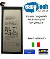BATTERIA RICAMBIO x SAMSUNG S6 G920F  capacità 2550 mAh COMPATIBILE TOP Qualita'