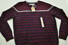 Men's URBAN PIPELINE sweater size X large MSRP $50 dark burgundy with stripe