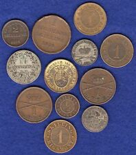 More details for denmark, 12 various 19th century coins inc silver & copper (ref. t3609)
