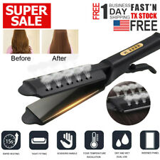Hair Straightener Ceramic Tourmaline Ionic Flat Iron Professional Glider US Plug