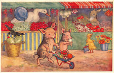 R268204 When Piglets go to market by Molly Brett. The Medici Society. Art Publis