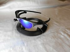 OAKLEY Half JACKET SUNGLASSES Ice Blue Mirrored Polarized Lenses Gray Frames