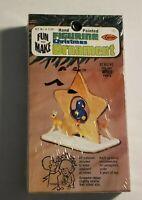 Vintage 1979 Arrow Figurine Wood Christmas Ornament Kit star bird  NIB