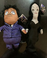 """2019 The Addams Family 13"""" Singing Squeezer plush doll Morticia & Gomez  NEW"""