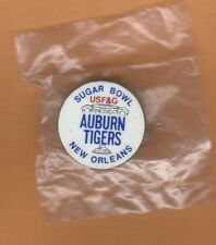 1988 SUGAR BOWL LAPEL PIN AUBURN TIGERS UNSOLD STOCK still packaged