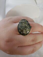 Decree Bronze Lady Bug Ring Watch *Needs Battery*