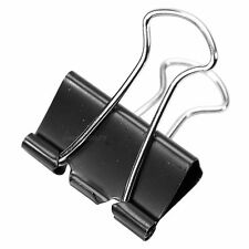 Initiative Small 25mm Black Foldback Clips Office Paper Binding Bulldog Grips