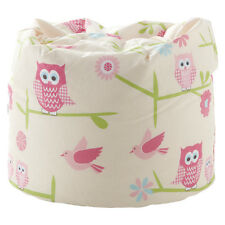 Children's Bean Bag Owls Twit Twoo Girls Kids Bedroom Furniture Seat Beanbag