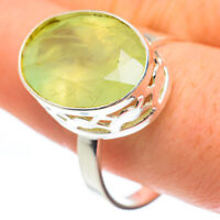 Prehnite 925 Sterling Silver Ring Size 12 Ana Co Jewelry R61636F