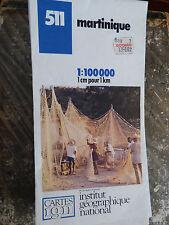 Carte ign bleue 511 martinique 1987