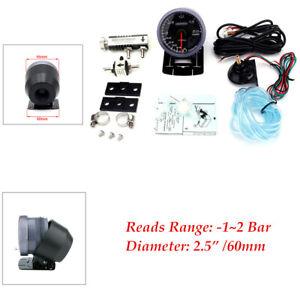 "2.5""Car Turbo Boost Gauge -1~2 Bar Turbo Boost Controller Kit 1-30PSI Capacity"