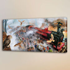 Home Wall Art Deco Oil Painting Harry Potter School Season Print on Canvas 16x28
