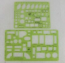 Lot of 2 Helix Templates / Stencils: Home Planning & Layout and Home Furnishing