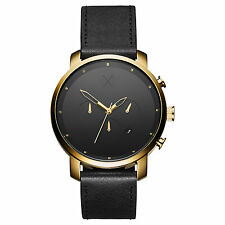 MVMT Watches CHRONO GOLD BLACK LEATHER Men's Watch Chronograph MAN ORIGINAL MVMT
