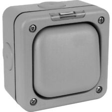 Mk Masterseal K56401 1 gang 2 way 10A outdoor switch weather proof-gris