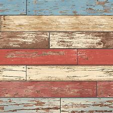 FD22319 - Reclaimed Scrap Wood Red Fine Decor Wallpaper