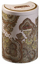 Basilur tea-white moon-milk oolong thé vert - 100g tin caddy