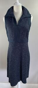 Moss & Spy - Grey Collared Work Dress - Size 12 - Preowned VGC