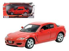 1:24 Mazda RX-8 (Red) - Motor Max Diecast Model Car 73384