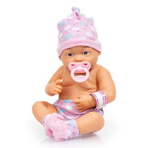 Newborn Baby 36 cm mit Zubehör Babypuppe Badepuppe  Schnuller 93600AA