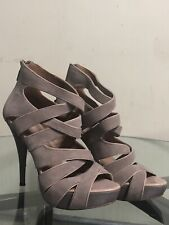 Boutique woman shoes Pump Heels Size 6.5 Gray Grey