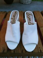 Sam Edelman Orlie White Mules With Peep Toe. Block Heel Size 10M great condition