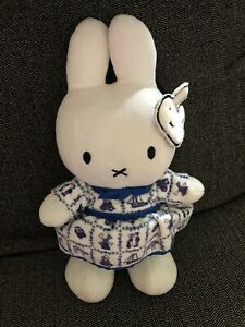 Miffy Holland Delft Blue Dress Plush Nijntje Stuffed Animal Doll Rabbit Bunny