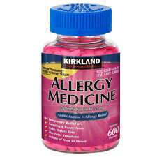 Kirkland Allergy Relief Antihistimine Sleep Aid Medicine Benadryl 25mg 600 Ct