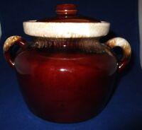 Mc Coy Pottery Bean Pot Brown Drip Glaze 341