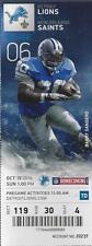 2014 NFL NEW ORLEANS SAINTS @ DETROIT LIONS FULL UNUSED FOOTBALL TICKET STUB
