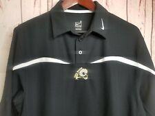 Vtg Nike Team FItDry VCU Rams Black White Logo Polo Shirt Adult Sz S