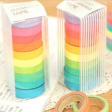 New 10x Washi Sticky Paper Masking Adhesive Decorative Tape Scrapbooking  DZT A