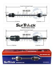2 Front CV Joint Axle Shafts SurTrack Set for Hyundai Excel Scoupe Mitsubishi