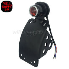 LED Curved Side Mounted License Plate Rear Taillight for Harley Bobber Chopper