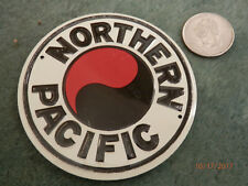 Post Cereal Tin Northern Pacific Railroad sign Free Shipping!