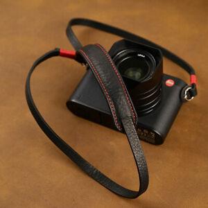 Genuine Leather Camera Strap Belt For Canon Nikon Sony Fujifilm Leica Pentax