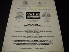Out In The Green 1994 Promo Ad Pogues Mau Mau Fish 4 Non Blondes Chris Rea more