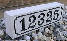 Real Indiana Limestone Address Stone Marker Stand Alone or Install with Brick
