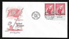 Un Ny #C6 5c Airmail of 1959 Artmaster Fdc Pr