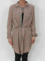 Diesel Women's civigy Shirt 00cm3y-00fpg-77f Checked Dress NEW + Size S & L