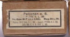 WWII: SCATOLA CARTUCCE: 8 x 57 S.S. P 249 4 L 38